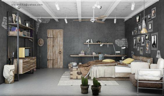 industrial-bedrooms-design