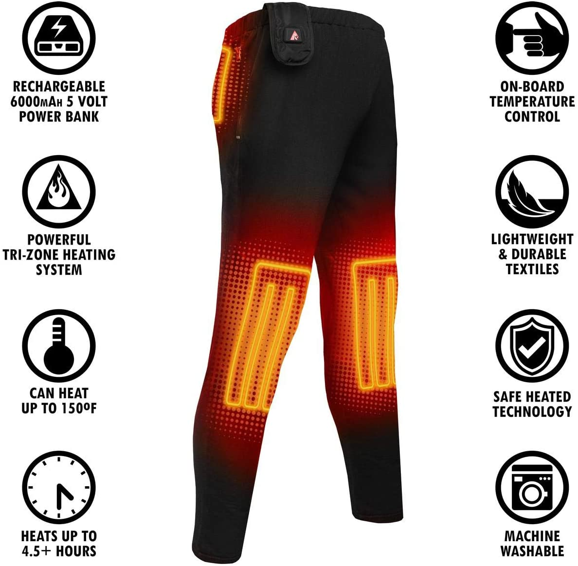 Action Heat 5V Base Layer Battery Heated Pants for Men –