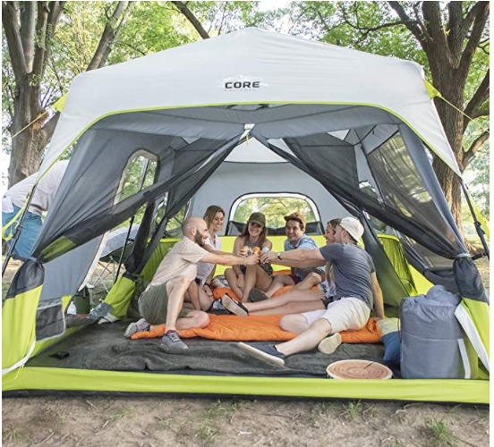 CORE 9 Person Instant Cabin Tent - 14' x 9' _ Sports & Outdoors