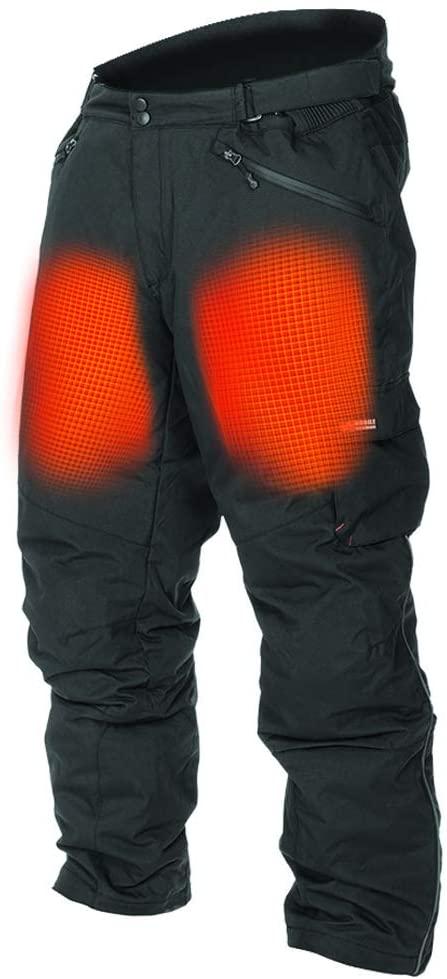 Mobile Warming Unisex-Adult Dual Power Heated 12.v Pants (Black, Medium)