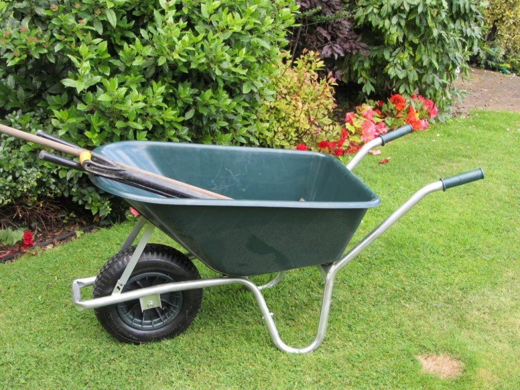 Bristol Big Mucker Green Plastic Wheelbarrow