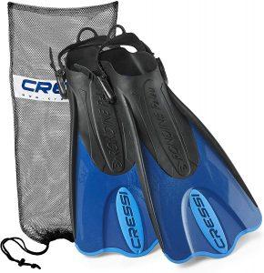 Cressi Palau Short Snorkeling Swim Fins with Mesh Bag