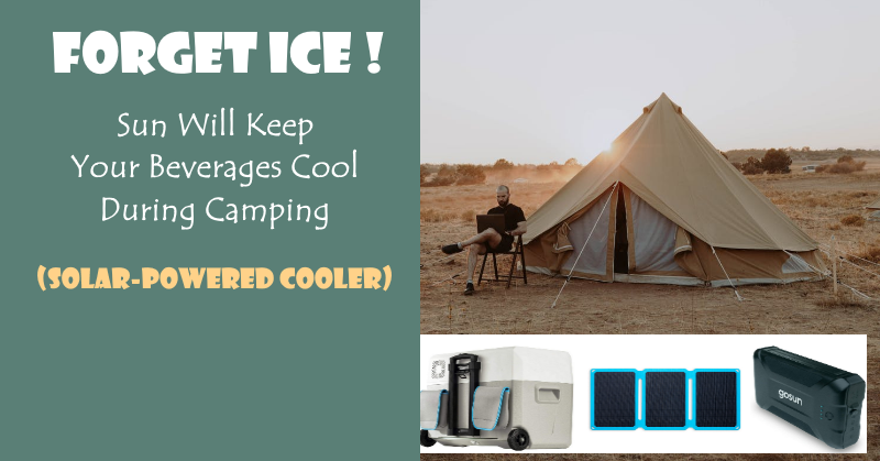 Forget Ice; Sun Will Keep Your Beverages Cool during Camping (Solar-Powered Cooler)